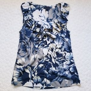 Banana Republic peony blouse sleeveless floral S